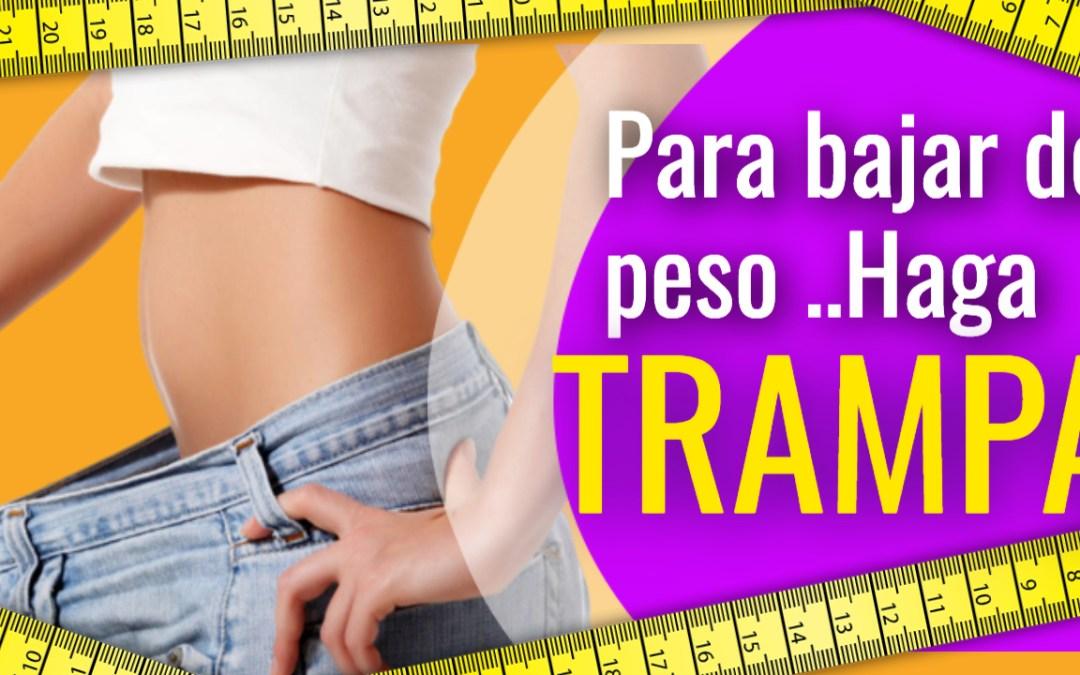 Para bajar de peso, haga trampa con su dieta!