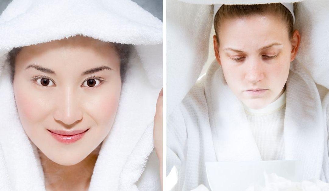 6 Cosas que le pueden pasar a tu cara cuando lo vaporiza una vez a la semana