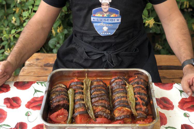 Kebab de vinete la cuptor