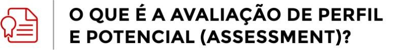 O que é Avaliação de Perfil e Potencial (Assessment)?
