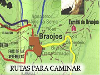 Rutas marcadas en Braojos hacia la Sierra