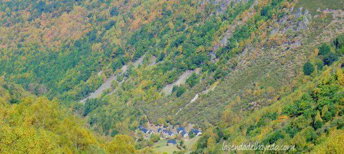 Brañas de La Seita y Zaraméu desde Cuevas del Sil