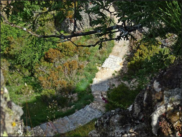 Detalle del nuevo camino a la ermita