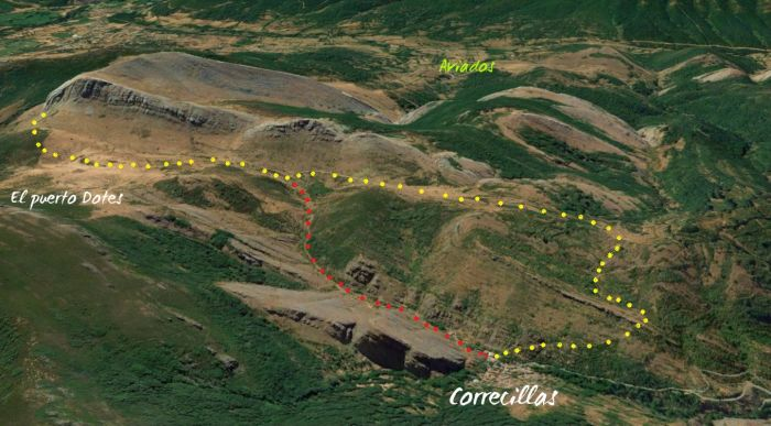 mapa ruta correcillas