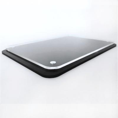 black sheet with radius corners