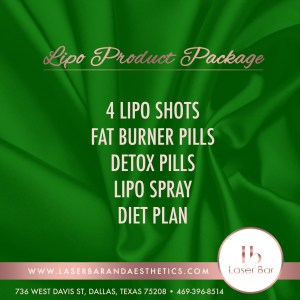 Laser Bar and Aesthetics Lipo Product Package