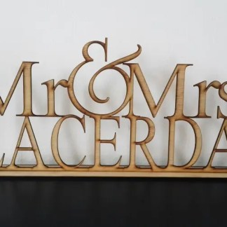 Name Stand MDF 30cm LC32 R220