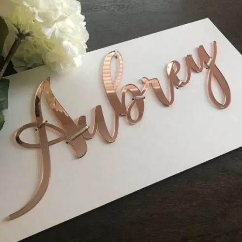 Perspex Cut Letters 25cm High