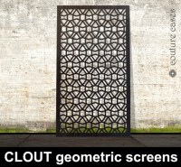 CLOUT geometric laser cut metal screens and architectural ...