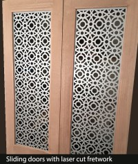 Sliding doors in laser cut metal styles I Custom Designs