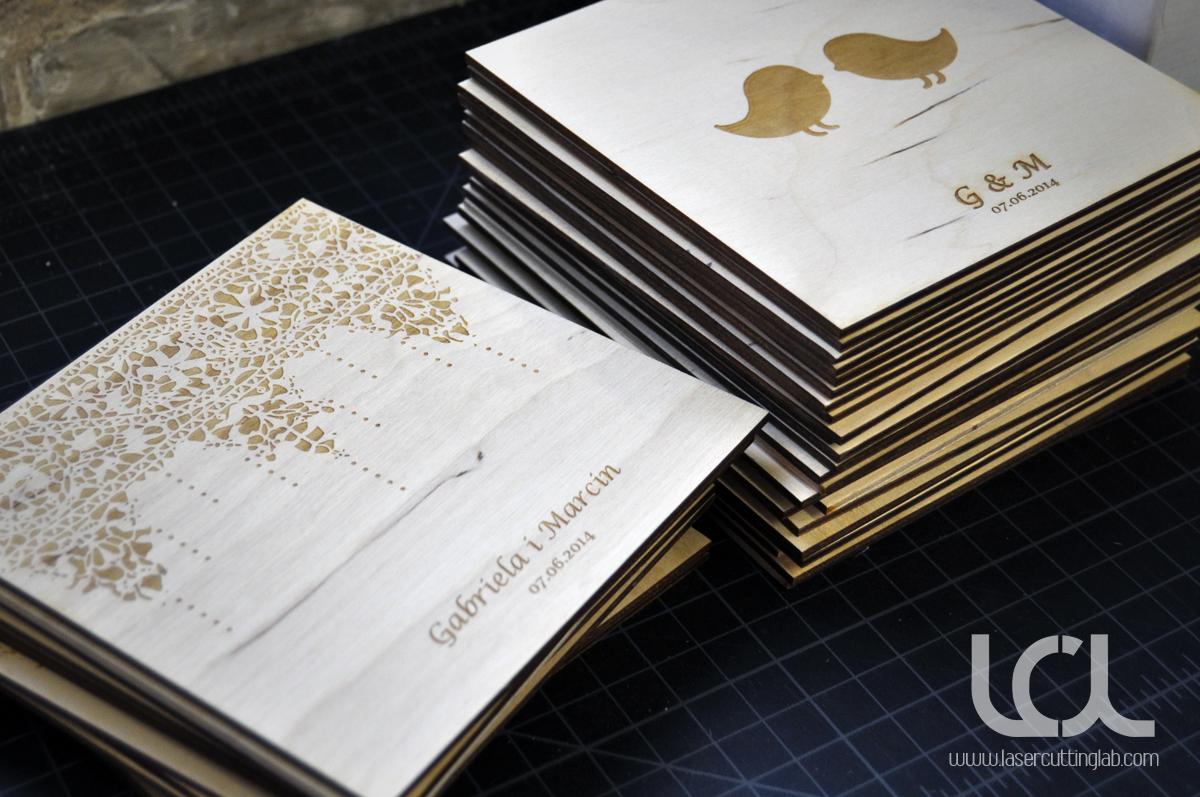 Laser Engraved Wood Invitation  Laser Cutting Lab LLC