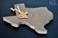 Texas Shaped American Walnut Cutting Board - Laser Cutting ...
