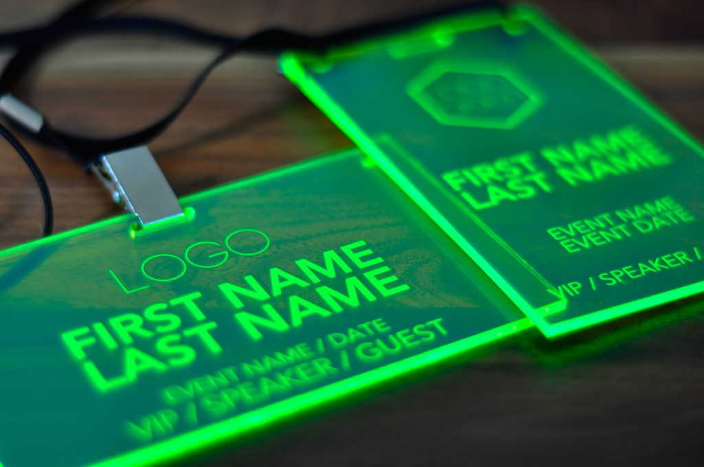 kitchen fluorescent light covers cart diy laser engraved green conference and event ...