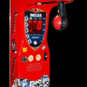 Boxautomat, der bei voreingestellten Events einen Preis in einer Kugel freigibt