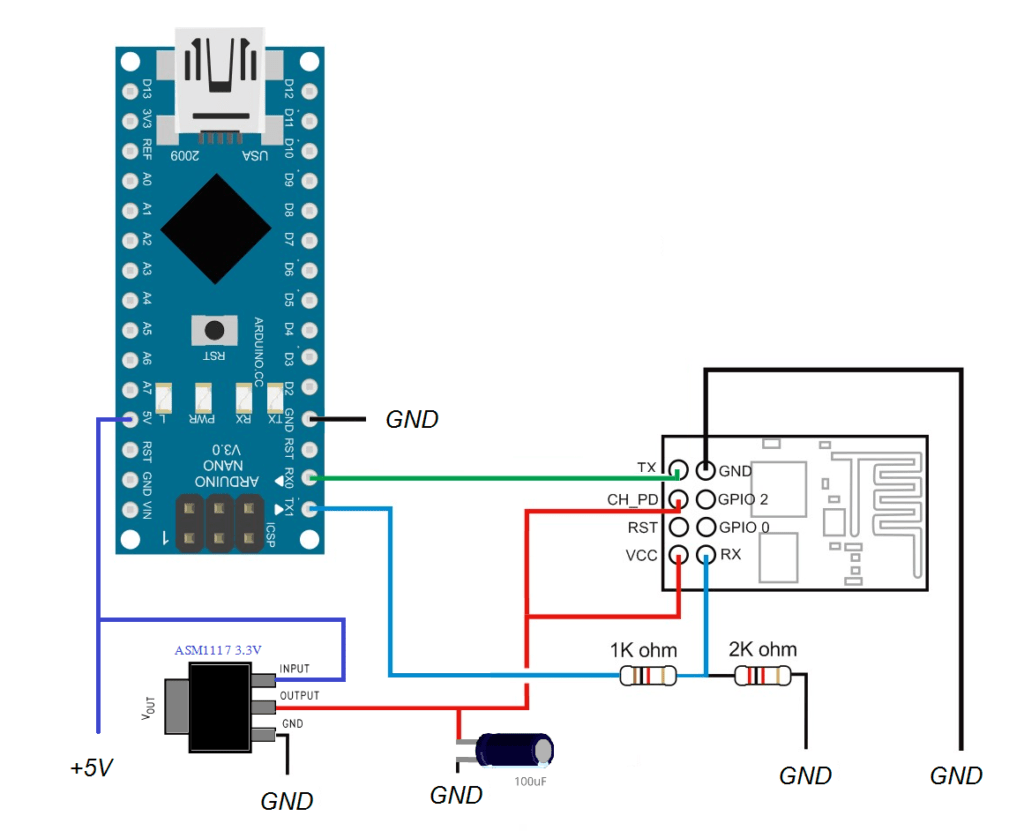 Network Wiring Diagram Example Wifi With Esp8266 Lasergrbl
