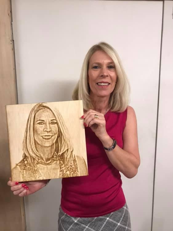 Laser engraved portrait on Wood - Laser Mafia - Vero Beach, FL