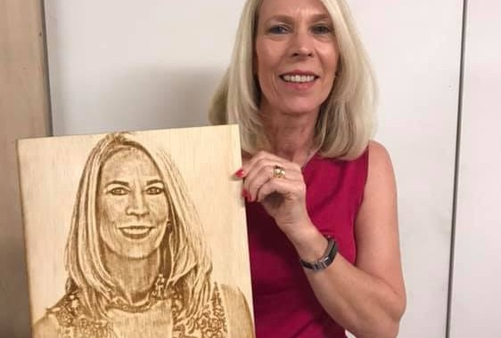 Laser engraved portrait on Wood - Laser Mafia - Vero Beach, FL