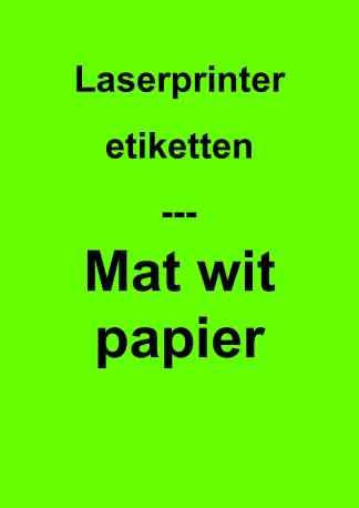Mat wit papier