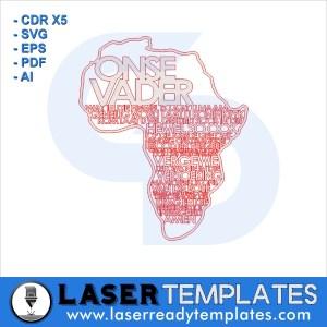 Onse Vader Africa shape laser ready
