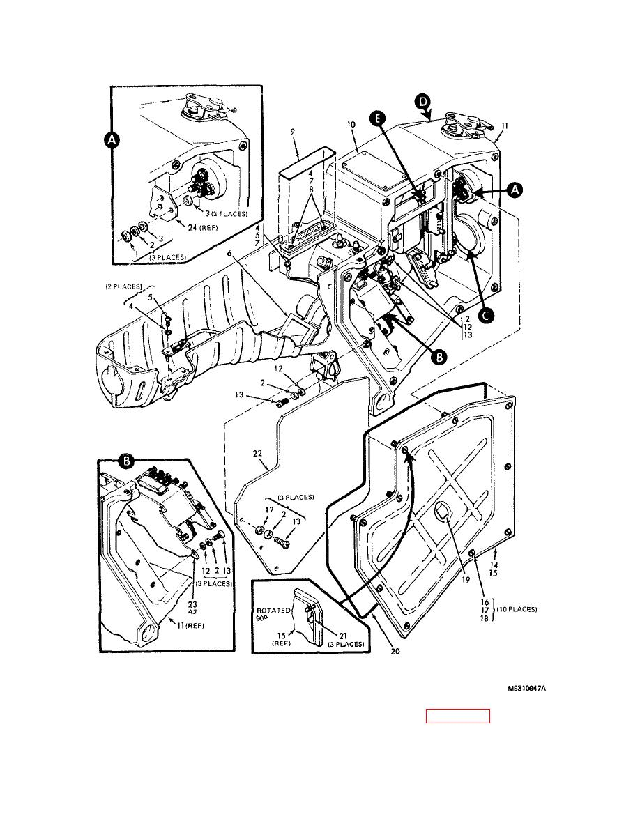 Figure 15. MX-9715/PAQ-1 Electronic component assembly