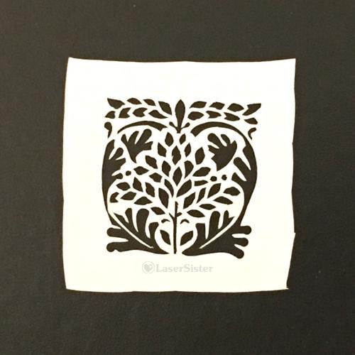 leaf heart papercut 687 - square - LaserSister - KayVincent