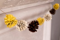 Pinecone Garland from cakeeventsblog