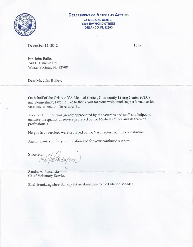 service thank you letter