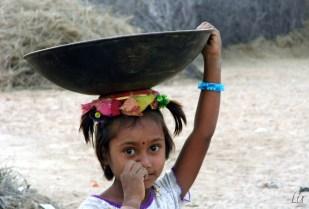 Indian girl, Desierto Bikaner, India