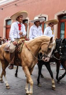 Charros, caballos, Grito de Dolores, León, Guanajuato, México, Independencia mexicana