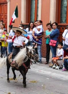 niño, charro, caballo, Grito de Dolores, León, Guanajuato, México, Independencia mexicana