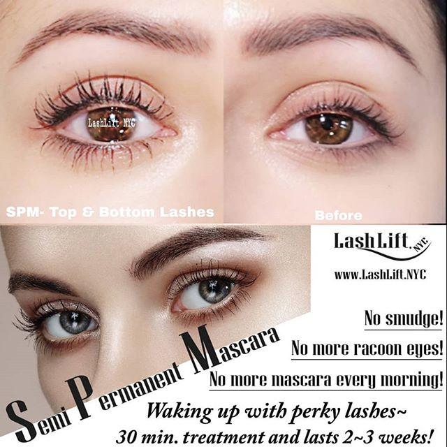 d3a1524f8d8 SPM (Semi-Permanent Mascara) Top and bottom lashes! - Lash Lift NYC