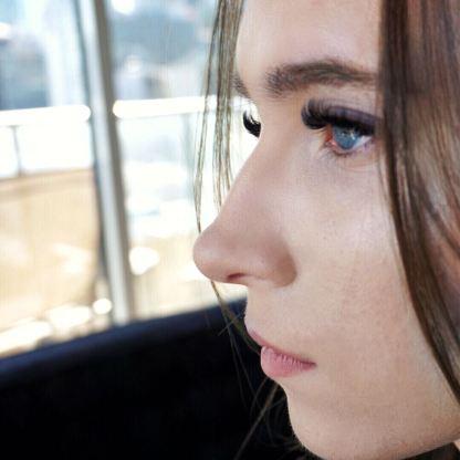 Profile Side View Eyelashes