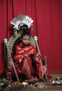 Kumari, Diosa viviente de Patán