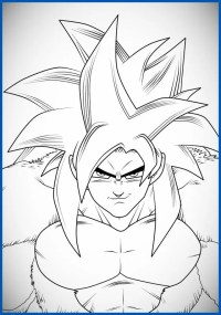 Dibujos Para Colorear De Dragon Ball Z Super Sayayin 4