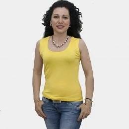 damska-bluza-bez-rakavi-zhalta