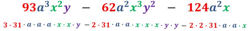 cuarto ejemplo expresado en factores
