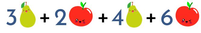 no sumes peras con manzanas