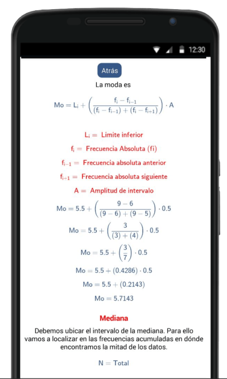 calculadora de medidas de tendencia central media mediana y moda
