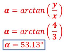 calcular ángulo alpha coordenada cilíndrica