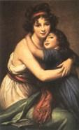 Autorretrato con su hija por E.L. Vigee-Lebrun