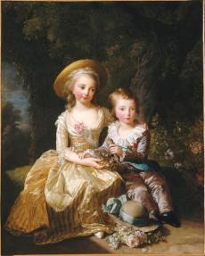 María Teresa de Francia y su hermano el Delfín Luis José Javier