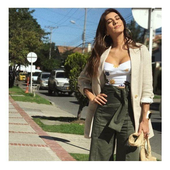 Andrea Serna y un excelente vestido
