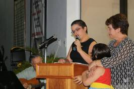 Musa Solimar Ortiz Jusino, su hija y su madre