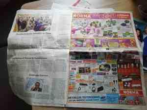 Werbung in der Sächsischen Zeitung