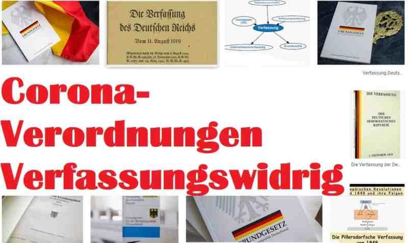 Corona-Verordnungen Verfassungswidrig