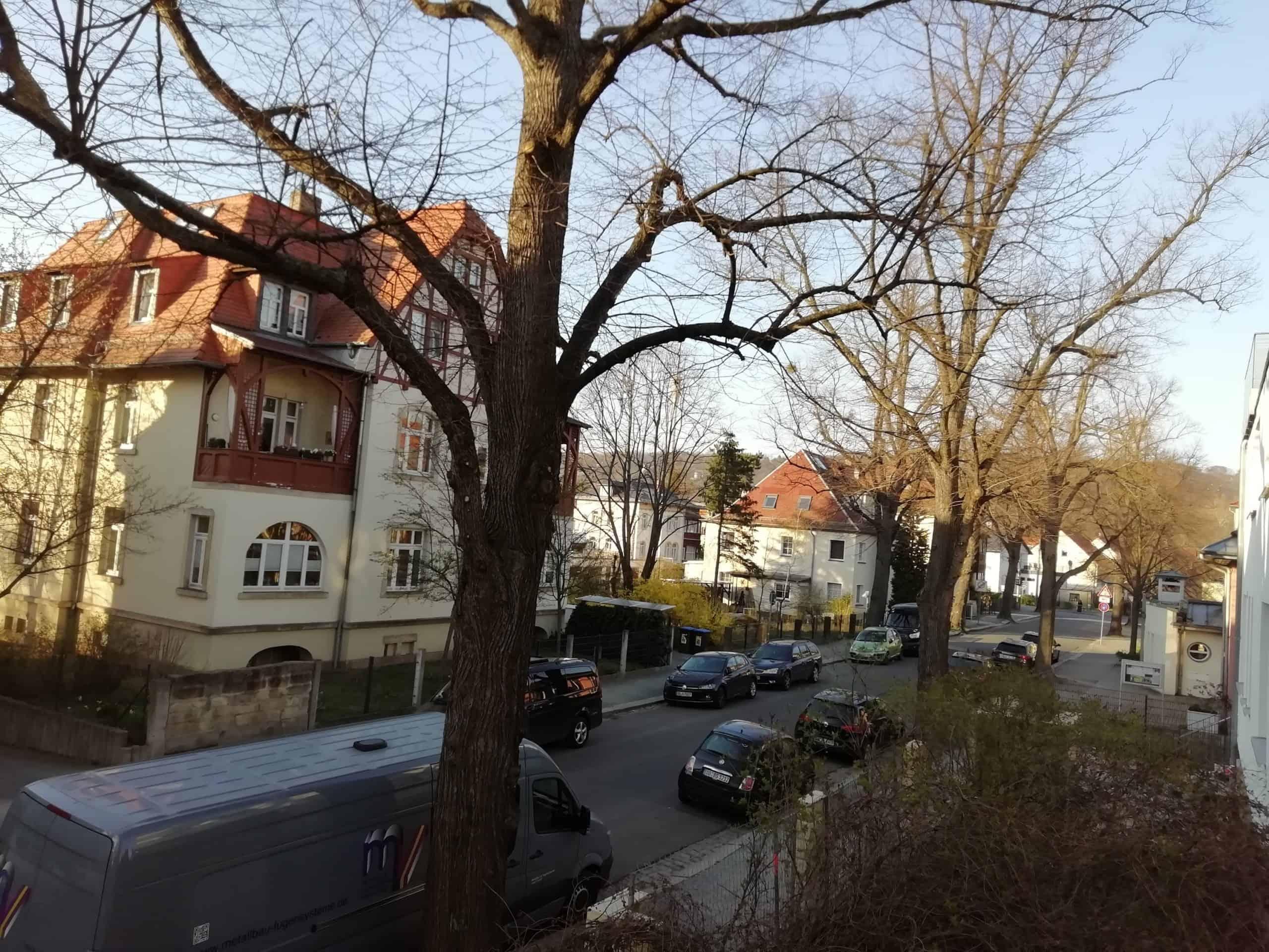 Die Hermann-Seidel-Straße in Laubegast