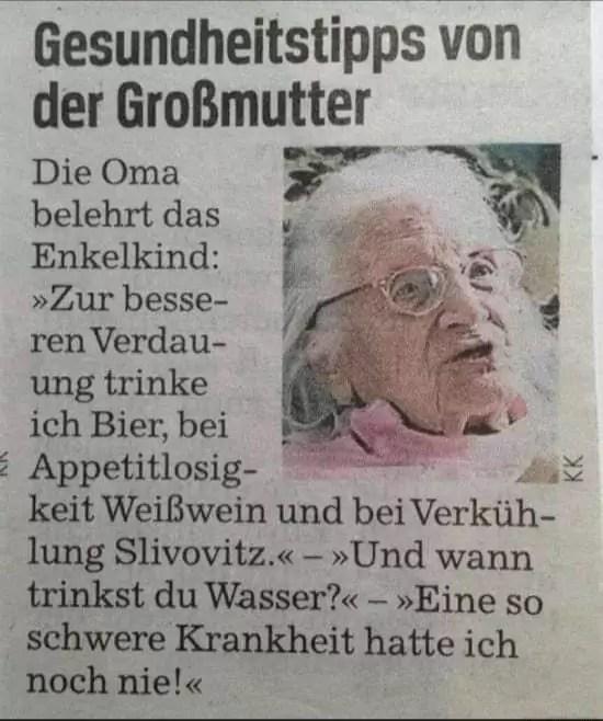 Oma war noch nie richtig krank