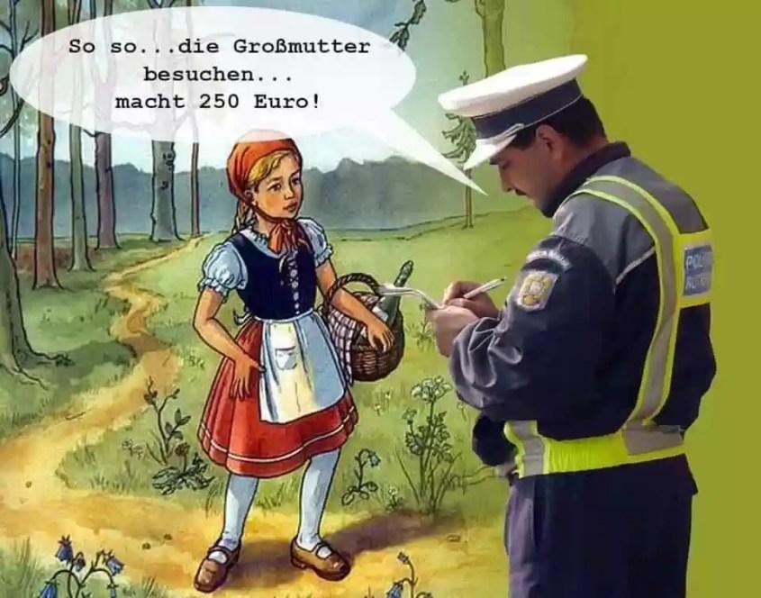 Rotkäppchen und die Polizei