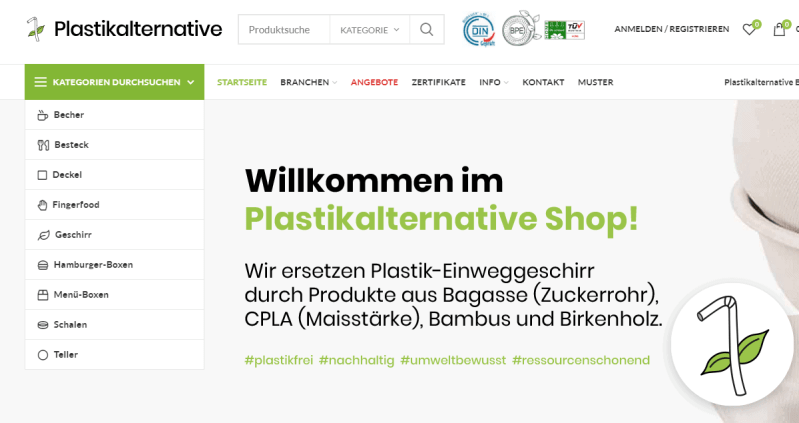 Plastikalternative - Die Alternative zu Einweggeschirr aus Plastik.
