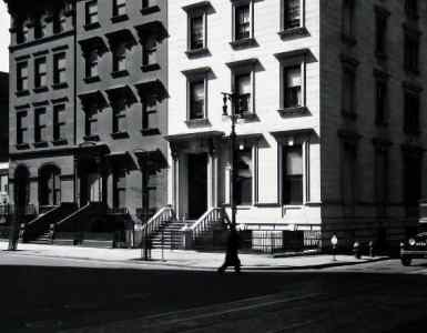 Berenice Abbott. Fifth Avenue Houses, Nos.4, 6, 8, 1936